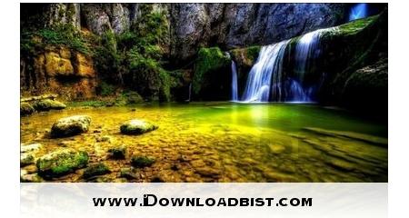 لایو والپیپر زیبای آبشار سه بعدی HD Waterfall 3D برای اندروید