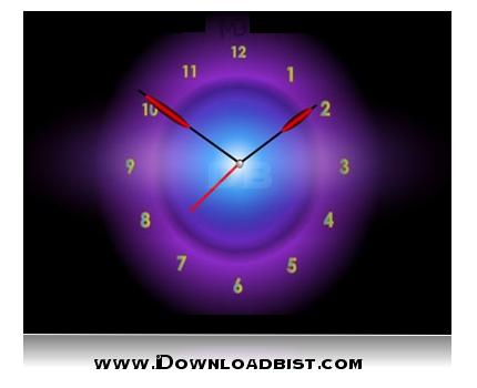 اسکرین سیور جديد و بسیار زیباي Radiant Clock ScreenSaver v2.3